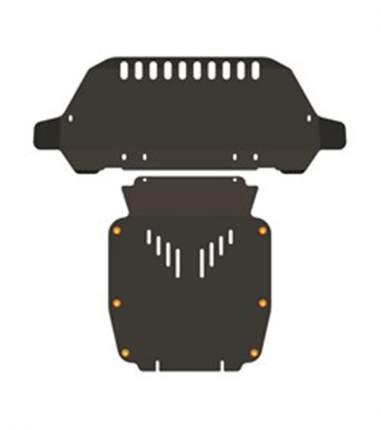 Защита радиатора картера двигателя ALFeco alf3007st для audi q7 2006-2009 сталь 2 мм