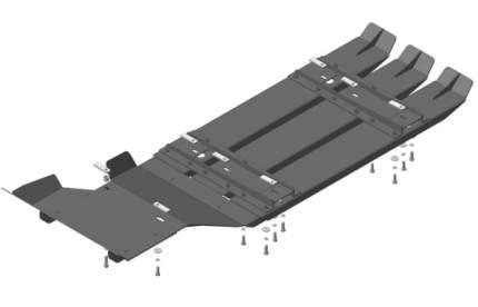 мотодор защита  бензобака mercedes-benz actros v-11,9 (08-16-) (4 мм, сталь) motodor.21208