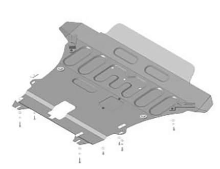 Защита двигателя кпп motodor motodor.71701 renault duster v-1.6, 2.0, 1.5 2015- 2 мм сталь
