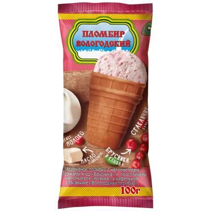 Бзмж морожен.вологод.пломб.15% с брусн.ваф.ст.100г