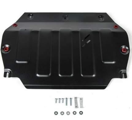 alfeco защита картера двигателя и кпп для jac s3 2015-, v-1,5 (сталь 2 мм) alf5601st