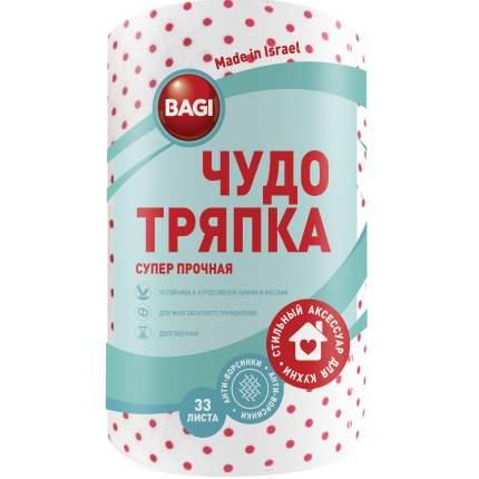 Тряпка Bagi 20х20см 33 листа в рулоне  в наборе  2шт