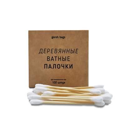 Ватные палочки Goroh Bags деревянные, 100 шт