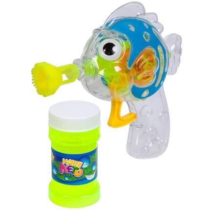 Пистолет с мыльными пузырями Bondibon Наше лето Рыбка прозрачно-голубая