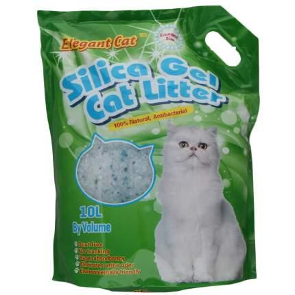 Впитывающий наполнитель для кошек Elegant Cat силикагелевый, зеленое яблоко, 4.33кг, 10л