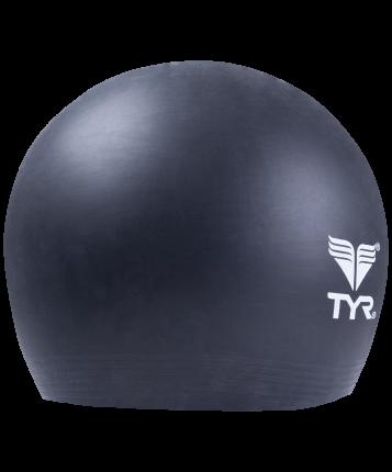 Шапочка для плавания TYR Latex Swim Cap черная