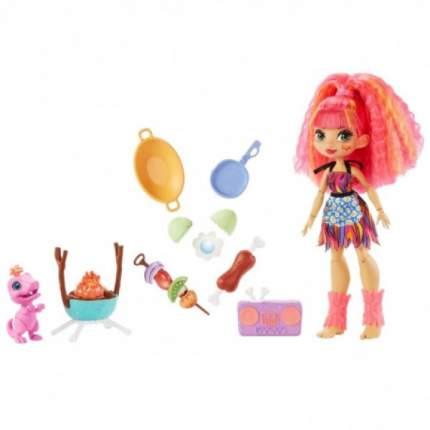 Игровой набор Cave Club Mattel с куклой Эмберли и барбекю GNL96