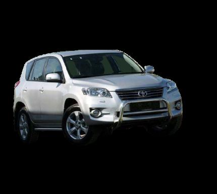 """Решётка передняя мини d 60 с перемычкой низкая """"Toyota RAV-4"""" 2010-"""