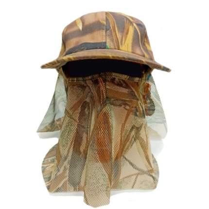 Накомарник Kamukamu с 2 сетками камуфляж камыш коричневый арт.743679 Размер: 59-60
