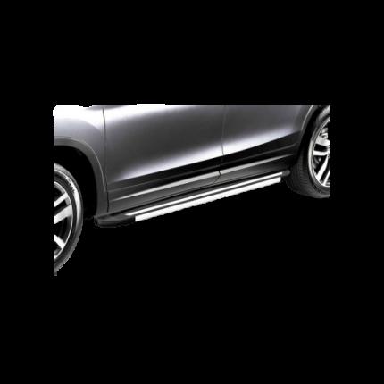 Комплект законцовок на защиту штатных порогов алюминиевый профиль Arbori