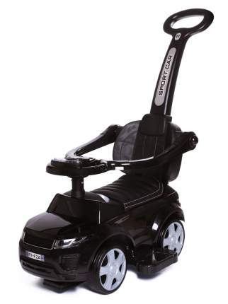 Babycare, Каталка детская Sport car (резиновые колеса, кожаное сиденье) New Черный (Black)