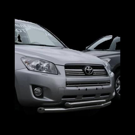 """Защита переднего бампера d 76/60 (труба) двойная """"Toyota RAV-4"""" 2009-pr"""