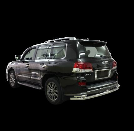 Защита задняя d76/42 двойная, Lexus LX570 Sport 2013-