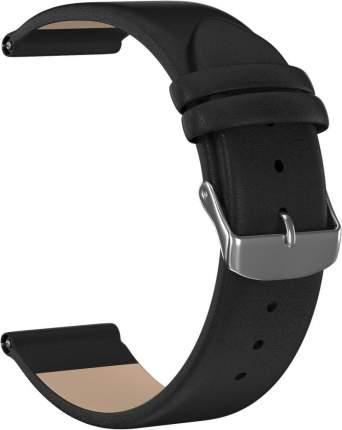 Ремешок кожаный GSMIN Esquire 20 для Amazfit Bip / Bip Lite (Черный)