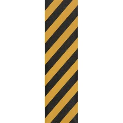 Шкурка для скейта GRIPTAPE, размер 30см х 114см, цвет черный/желтый