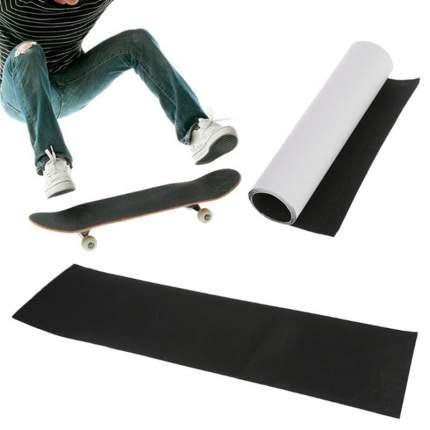 Шкурка для скейта GRIPTAPE, размер 30см х 114см, цвет черный