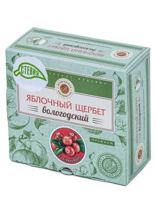 Яблочный щербет без сахара с клюквой со стевией, 250г