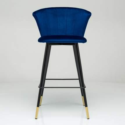 Барный стул Marlon синий велюр StoreForHome / BY-18-BLUE