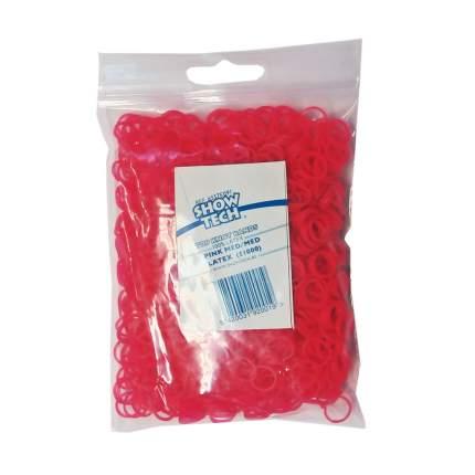 Резинки для папильоток ярко-розовые 1000 шт., Show Tech Wrap Bands Hot Pink