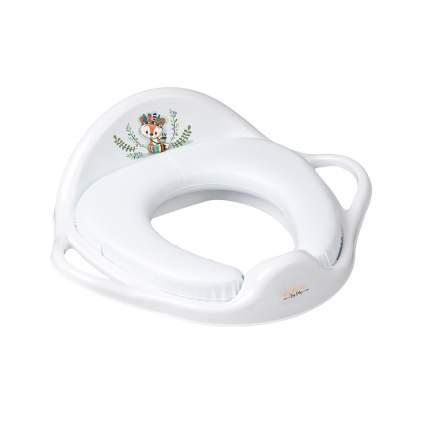 Накладка на унитаз мягкаяTega Baby DZ Лисенок белая