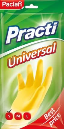 Перчатки резиновые Paclan  Universal (S)  желтые, 1 пара