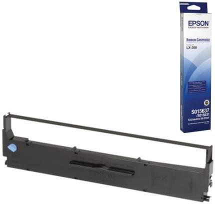 Картридж для матричного принтера Epson C13S015637BA, черный, оригинал
