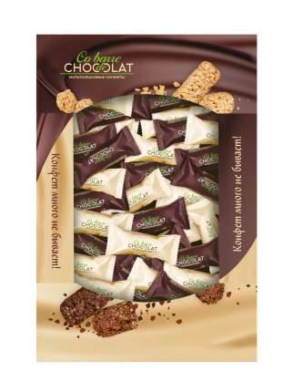 Конфеты Co barre de Chocolat мультизлаковые АССОРТИ с белой и темной глазурью 900 гр