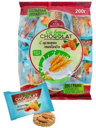 Конфеты Co barre de Chocolat мультизлаковые с миндалем с белой глазурью 200 гр