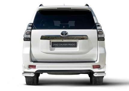 Защита заднего бампера d76 Rival Toyota LC Prado 150 (Black Onyx) 2020-, 2 ч., R.5726.002