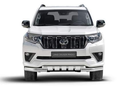 Защита переднего бампера d76+d57 с проф.защитой картера Rival Toyota LC Prado 150 20-
