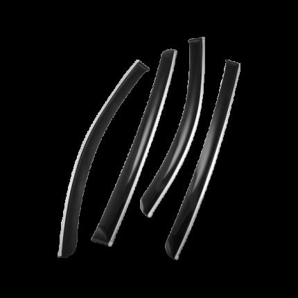 Дефлекторы окон CHROMEX с хром. молд Hyundai Sonata VIII (DN8) седан  4шт  CHROMEX.63036