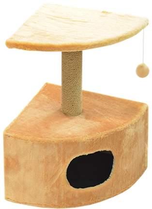 Комплекс для кошек Зооник, бежевый, 2 уровня, 43 х 43 х 67 см