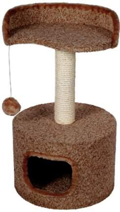Комплекс для кошек Зооник с полкой в форме капли, коричневый, 43 х 43 х 75 см