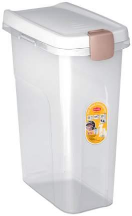 Контейнер для корма Stefanplast прозрачный с белой крышкой 6 кг 15 л