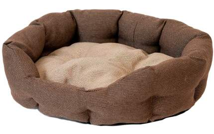 Лежанка для кошки, собаки Дарэлл Облако Рогожка № 2, 40x49x17см коричневый