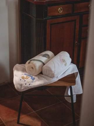 Полотенце махровое с уголком Олант медвежонок 90*90 см