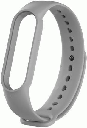 Сменный ремешок Xiaomi Silicon Strap для Mi Band 5 (Grey)