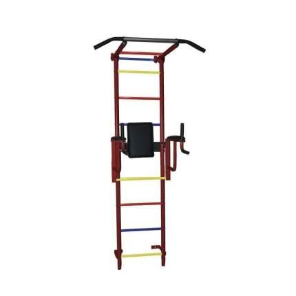 Детский спортивный комплекс Крепыш пристенный с брусьями 2 бордовый