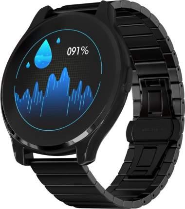 Часы GSMIN WP7 c измерением давления и пульса с черным ремешком сталь (Черный)