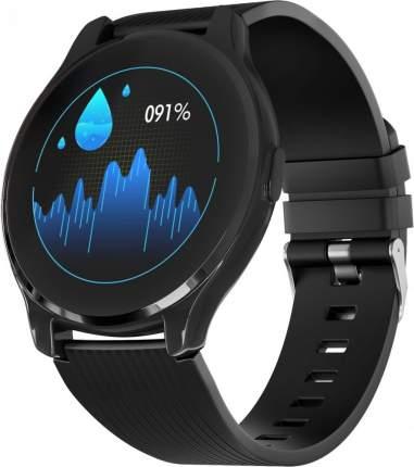 Часы GSMIN WP7 c измерением давления и пульса с черным ремешком силикон (Черный)