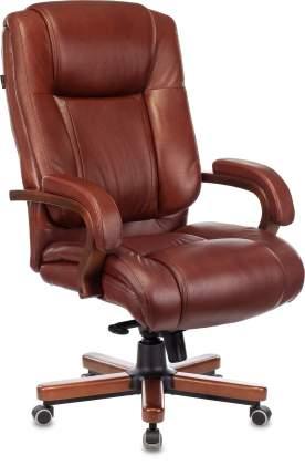 Кресло руководителя Бюрократ T-9925WALNUT светло-коричневый (t-9925walnut/chok)