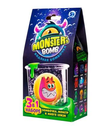Набор для слайма Slime Monster's bomb Водяная бомбочка, 3 в 1 MB001P