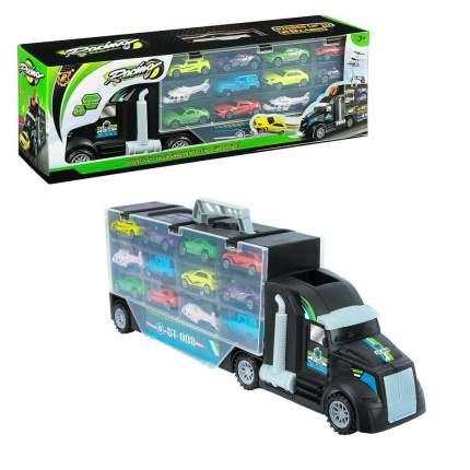 Игровой набор Junfa с 12 машинками, со скоростным съездом, P858-A
