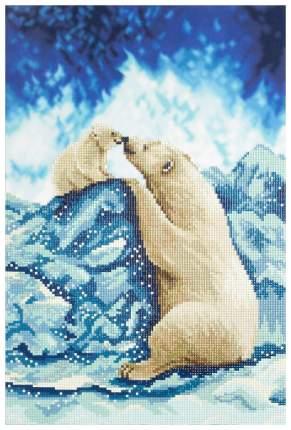Алмазная живопись Фрея «Белые мишки» 25x40 см