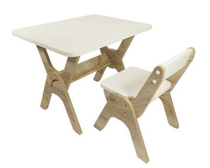 """Детский растущий стол-парта и стул Я САМ """"Умка"""" (Дуб/Серый)"""