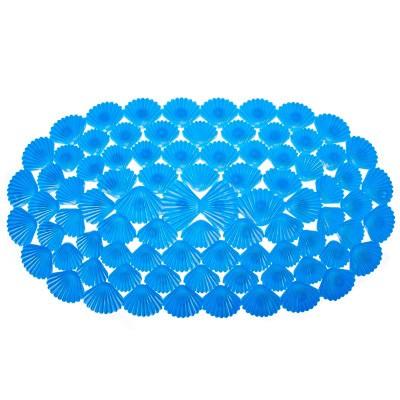 Коврик для ванны на присосках Ракушки (Цвет: Синий )
