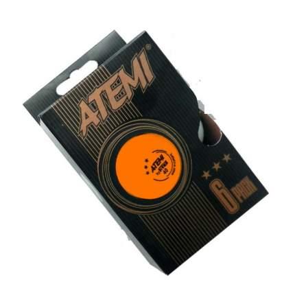 Мячи для настольного тенниса Atemi ATB36O 3*, оранжевый, 6 шт.
