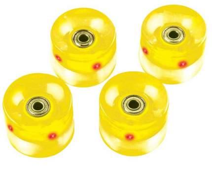 Набор колес для миниборда цвет желтый с подсветкой (подшипник ABEC-5), AW-18.01