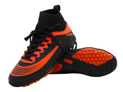 Бутсы футбольные Atemi, черн/оранж, синтетическая кожа, SD100 TURF (41)