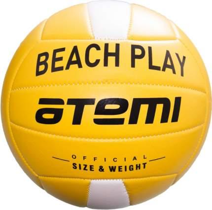 Мяч волейбольный Atemi BEACH PLAY, синтетическая кожа PVC foam, 18 п., желт/бел, м/ш